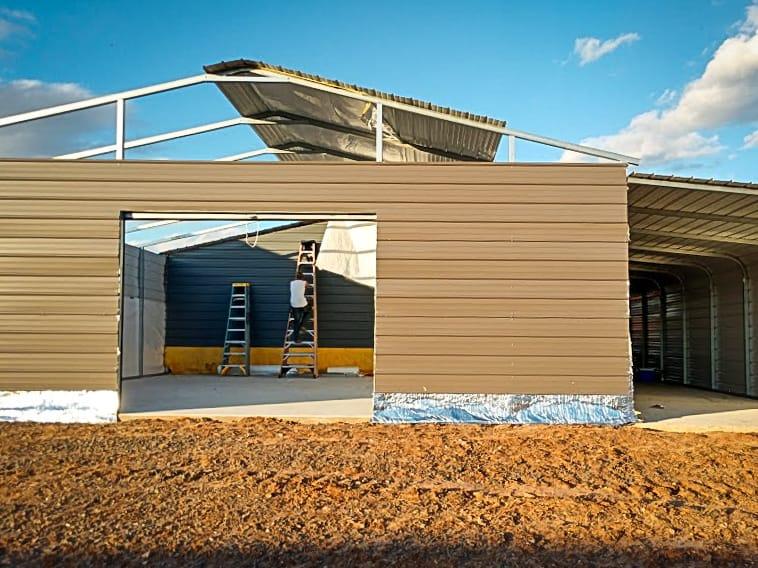 pole barn garages vs portable steel garages