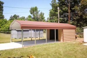 boxed eave metal carport