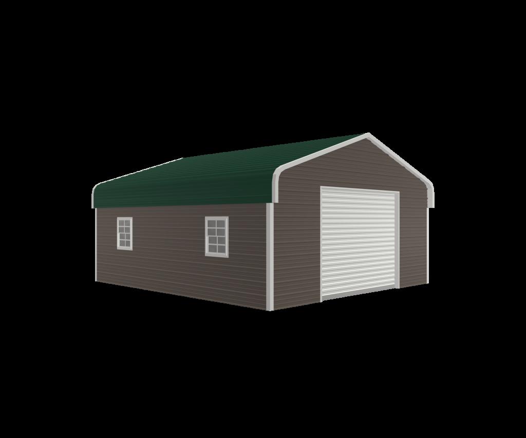 traditional steel garage